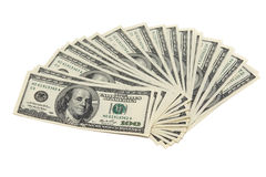 USD banknotes isolated Stock Photos