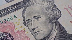 USD Banknotes Presidents Portraits close up