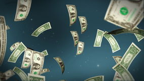 USD bill flying, stock footage. Video stock video
