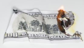 100 USD Brand Lizenzfreies Stockfoto