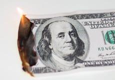 100 USD-brandwond Royalty-vrije Stock Afbeelding
