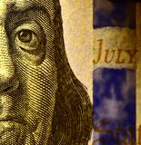 100USD complemento Benjamin Franklin Immagini Stock Libere da Diritti