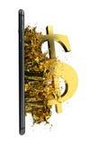 USD d'or Chemin inclus Perfectionnez pour la publicité Photos libres de droits