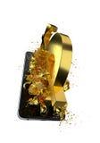 USD d'or Chemin inclus Perfectionnez pour la publicité Photographie stock libre de droits