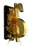 USD d'or Chemin inclus Perfectionnez pour la publicité Photo stock
