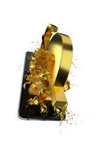 USD de oro Trayectoria incluida Perfeccione para hacer publicidad Fotografía de archivo libre de regalías
