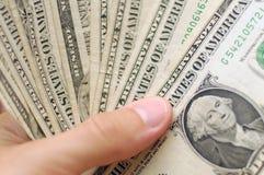 USD di banconote Fotografie Stock Libere da Diritti