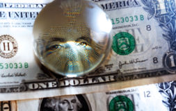 Usd dollar bill eye Stock Image