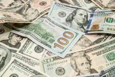 USD dollarräkning för bakgrundstextur Royaltyfria Bilder