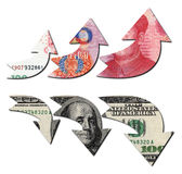 USD DOWN RMB UP,financial concept Stock Photo