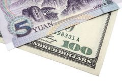 USD en Chinese Yuan Stock Foto