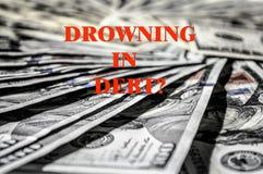 USD pieniądze długu kredytowego banka tło obrazy stock