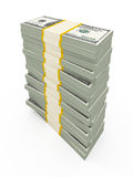 USD stacks Royalty Free Stock Photography