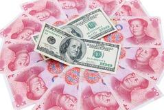 USD Y RMB Imagen de archivo libre de regalías
