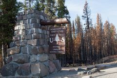 USDA Umpqua的美国林业局标志 图库摄影