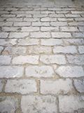 Perspective view of ruined ancient walkway, for texture and background, taken in China. stock photo