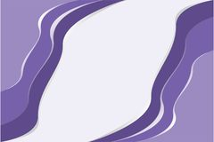 Overlapping layers of ultra violet pattern , the color of the year 2018, on light purple background - Vector illustration. Use as background, backdrop, or image royalty free illustration