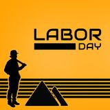 LABOR DAY IMAGE WITH BLACK STRIPE. USE IT FOR BACKGROUND IMAGE AND ALSO PROMOTE ON SOCIAL MEDIA royalty free illustration