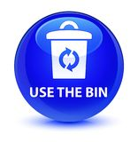 Use the bin glassy blue round button Royalty Free Stock Photo