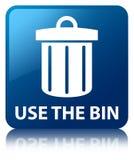 Use the bin (trash icon) blue square button Stock Photography