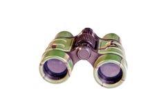 Use Binoculars Isolated On White Royalty Free Stock Image