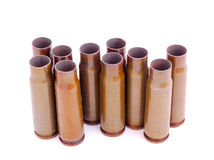 Use bullet shell cartridges Stock Photos