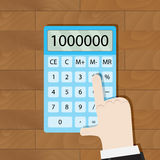 Use calculator in workplace Royalty Free Stock Photo