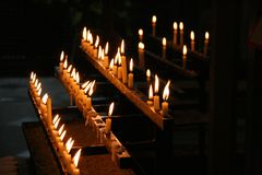 The Ceremonial Candles royalty free stock photos