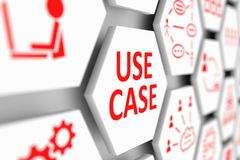 USE CASE concept. Cell blurred background 3d illustration Stock Photo