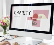 Use Computer Show Charity Graphic Stock Image
