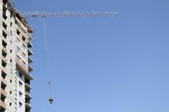 Use the crane accelerates construction Royalty Free Stock Photo