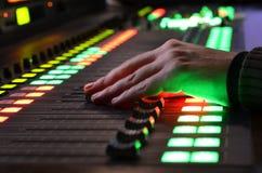 Use digital sound mixer stock image