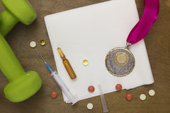 Use of doping for sports records Royalty Free Stock Photos
