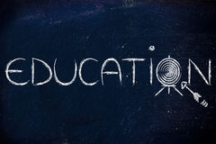Use education to hit your targets in life Royalty Free Stock Image