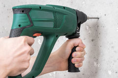 Use electric drill Stock Image