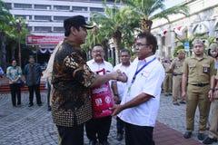 Use Energy Wisely, Semarang City Government Invites Pertamina LPG Use Unsubsidized. Mayor of Semarang, Hendrar Prihadi in Semarang Mayor's Office on Monday royalty free stock image