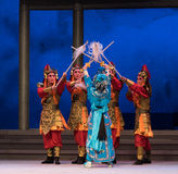 "Use the few to defeat the many -The sixth act water overflows golden hill-Kunqu Opera""Madame White Snake"" Stock Images"