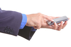Use finger touch smart phone Stock Image