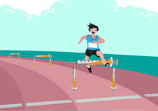 Use of Illegal Substance Just to Win in Sports Games with endurance.  Editable Clip Art. Stock Images