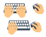 Use keyboard and mouse Stock Images