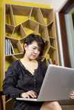 Use laptop Stock Photo