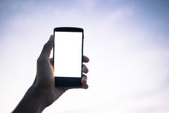 Use mobile phone Royalty Free Stock Photography