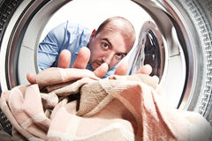 Use my washing machine Royalty Free Stock Image