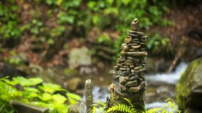 Use of natural stones in the decorated garden, Japanese garden of stones. Close up stock images