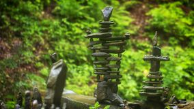 Use of natural stones in the decorated garden, Japanese garden of stones. Close up royalty free stock photos