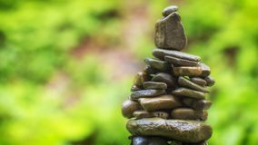 Use of natural stones in the decorated garden, Japanese garden of stones. Close up royalty free stock photo