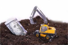 Free Use Of An Excavator In Construction Royalty Free Stock Photo - 186042005
