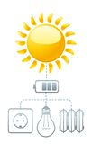 Use Of Solar Energy Royalty Free Stock Images