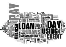 Is The Use Of Pay Day Loans Wise Text Background  Word Cloud Concept Royalty Free Stock Photography