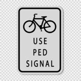 symbol Use Pedestrian Signal Sign Sign on transparent background stock illustration